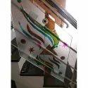 Multicolor Railing Decorative Toughened Glass