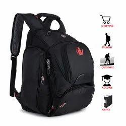 ANVA 35 Ltrs Black Laptop Bag (LB-445)