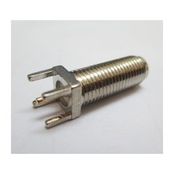 SMA Female Straight B/h PCB Mount 15mm ( Nickel Plated )