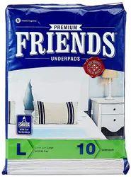 Friends Underpads Premium Large Size ( 10 Count Per Pack)