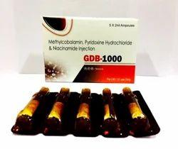 Mecobalamin 1000mg Pyridoxine Hcl 100 mg Niacinamide 100 mg Injection
