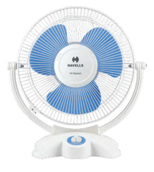 Breezo White And Blue Personal Fan