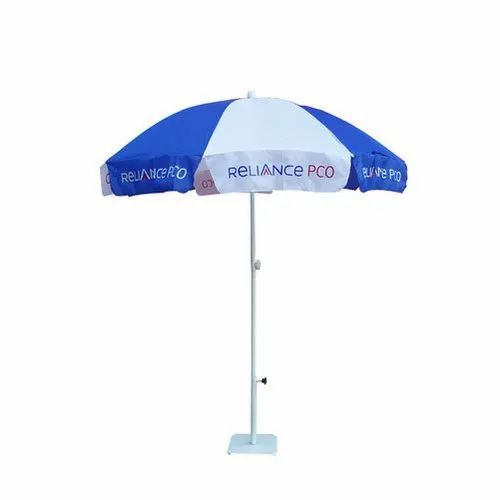 314e236c9773f Blue And White Printed Polyester Promotional Umbrella, Rs 120 /piece ...
