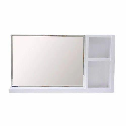 White Bathroom Mirror Shelf Rs 2250 Piece Lustrous Industries Id 17170083448