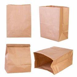Broun Plain Paper Bag, Capacity: 5kg