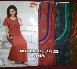 Casual Maxi Dress Ladies alpine heavy gown, Size: Xxl