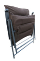 Folding Reclining Chair-Padded-Dark Brown