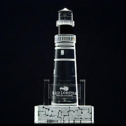 Crystal Light House Corporate Gift