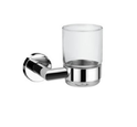 Stainless Steel And Glass Silver Eco Tumbler Holder