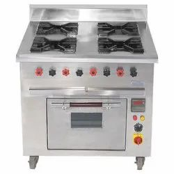 Continental Four Burner Bhatti With Oven