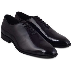 Mens Black ADM Glossy Lace Up Formal Shoes