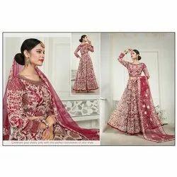 Net Wedding Ladies Dupatta Work Gown