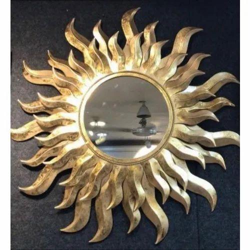 Fancy Round Wall Mirror At Rs 2750 Piece Nautical Mirror ड क र ट व म रर M S Moradabad Metal Handicrafts Moradabad Id 21301498555
