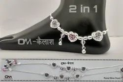 Agra Fancy Silver Payal