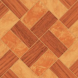 Double Charged Design Wooden Floor Tile, Thickness: 6-8 mm, Size: 2 x 1 Feet