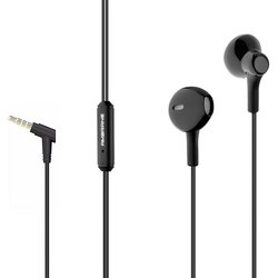 Mobiles和笔记本电脑黑色Ambrane有线耳机EP-21