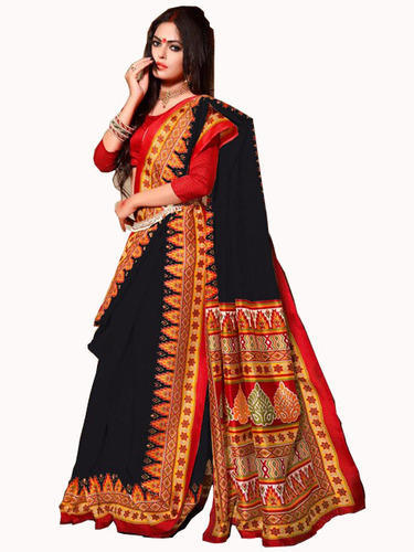 98d8adb6612fef Bengali Style Multicolor Bhagalpuri Silk Saree, Length: 5.5 M, Rs ...