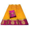 Handloom Yellow Cotton Saree