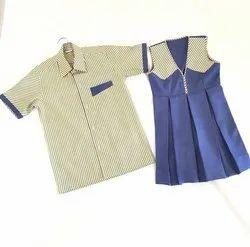 Plain And Check Girls Kids School Uniform Tunics, S, M