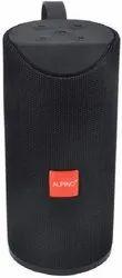 Rectangular Black Alpino 113 Bluetooth Speaker