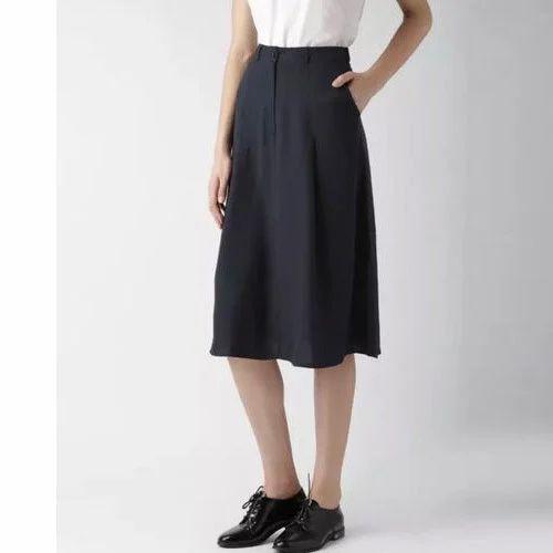 7f8dd6a666 Black Plain Ladies Formal Skirts, Rs 200 /piece, Fabrica Unit Of ...