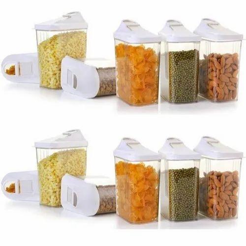 Plain Easy Flow Plastic Kitchen Storage Boxes Capacity 700ml