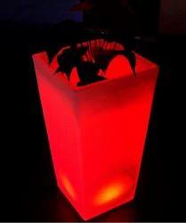 LED Square Flower Pot
