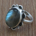 Beautiful Labradorite Gemstone Sterling Silver Jewelry Set