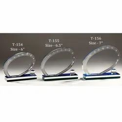 Oval Designer Glass Trophy