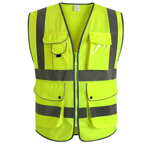 Medium Polyester Reflective Safety Jacket, for Traffic Control