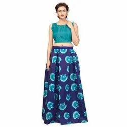 85260f493b0a Party Wear Ladies Semi-Stitched Printed Lehenga, Rs 299 /set | ID ...