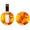 Round  Card Style USB Pendrive Flash Drive