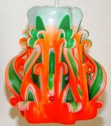 Designer Carved Candle Set