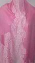 Lace Trimmed Fine Wool Cashmere Stole