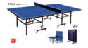 Table Tennis Table Stiga Club Roller