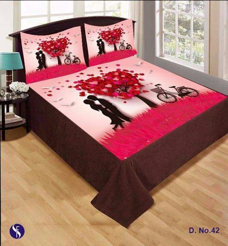 Designer Velvet Double Bedsheets With 2 Pillow Covers