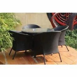 Outdoor Modern 1 Table and 4 Chair Set