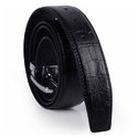 Design Croc Black Leather Belts