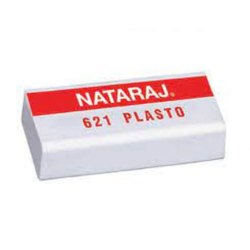 White 621 Nataraj Rubber Eraser, Packaging Type: Box
