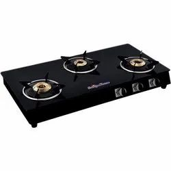 3 Burner Butterfly Gas Stove, Packaging Type: Box
