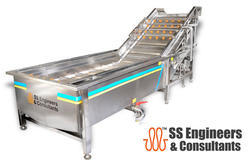 Food Processing Vegetables Washer, Capacity: 100kg To 2tons