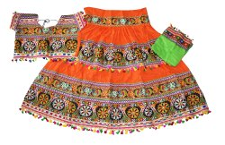 Dance Costume - Heavy Kutchi Work Ghagra Choli