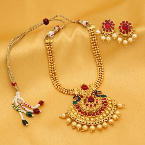 9d21a4f46 Sukkhi Resplendent Gold Plated Necklace Set For Women, Packaging Type:  Branded Packaging