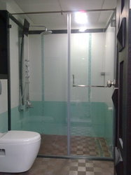 Shower Glass Partition swing type