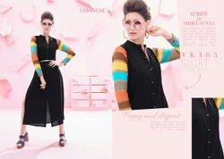 Vasanche Stripes Designer Kurtis