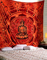 Indian Ethnic Ganesha Printed Decorative Wall Hanging Tapestry