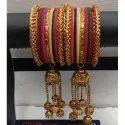 Round Ladies Designer Brass Bangles