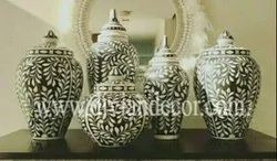 Bone Inlay Jar