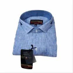 Collar Neck Plain Youth Plus Men's Cotton Shirt, Size: M
