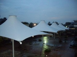 White Conical Tensile Umbrella